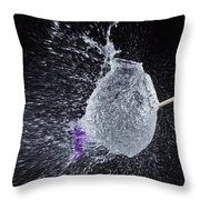 Purple Balloon Pop Throw Pillow