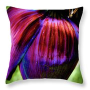Purple Banana Pod Throw Pillow