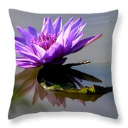 Purple Beauty On The Pond Throw Pillow