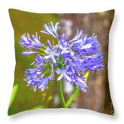 Purple Bells And Blossoms Throw Pillow
