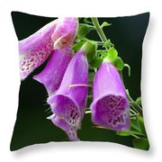 Purple Bells Horizontal Throw Pillow