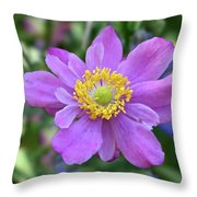 Purple Blossom 1 Throw Pillow