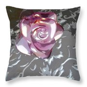 Purple Blossom Throw Pillow