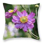 Purple Blossoms 2 Throw Pillow