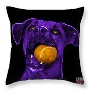 Purple Boxer Mix Dog Art - 8173 - Bb Throw Pillow