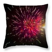 Purple Burst Throw Pillow
