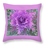 Purple Cabbage Plant Throw Pillow