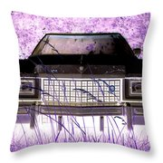Purple Cadillac Throw Pillow