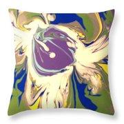 Purple Calla Lilly Throw Pillow