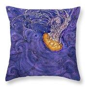 Purple Calm Throw Pillow