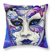 Purple Carnival Throw Pillow