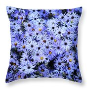 Purple Carpet Throw Pillow