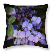 Purple Cascading Floral Art Throw Pillow
