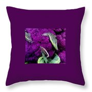 Purple Cauloflower Throw Pillow