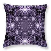Purple Celeste  Throw Pillow