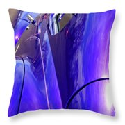 Purple Chevrolet Throw Pillow