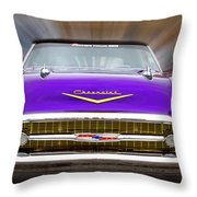 Purple Chevy Throw Pillow