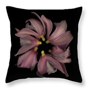 Purple Circle Backs Throw Pillow