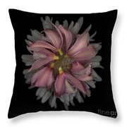 Purple Circle Tops With White Top Throw Pillow