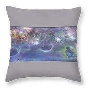 Purple City  Throw Pillow