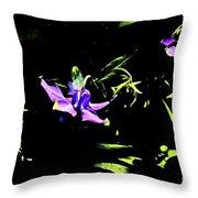 Purple Clematis 4 Throw Pillow
