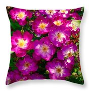Purple Cluster 2 Throw Pillow