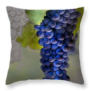 Purple Cluster Throw Pillow