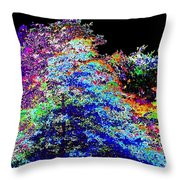 Purple Cottage Throw Pillow