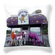 Purple Cow 1 Throw Pillow