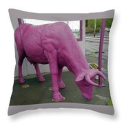 Purple Cow 3 Throw Pillow