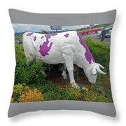 Purple Cow 4 Throw Pillow