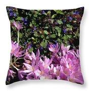 Purple Crocus Throw Pillow