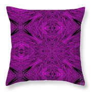 Purple Crossed Arrows Abstract Throw Pillow