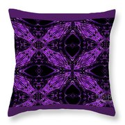 Purple Crosses Connecting Throw Pillow