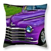Purple Cruise Throw Pillow