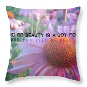 Purple Daisies Quote Throw Pillow