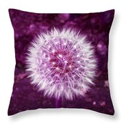 Purple Dandy Throw Pillow