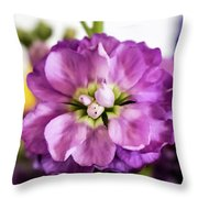 Purple Delphinium Throw Pillow