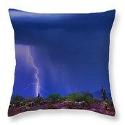 Purple Desert Storm Throw Pillow