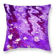 Purple Disturbances Throw Pillow