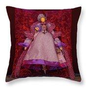 Purple Doll Throw Pillow