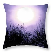 Purple Eclipse Throw Pillow