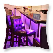 Purple Electric Throw Pillow