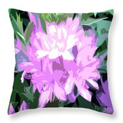 Purple Fades To Lilac Throw Pillow