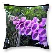 Purple Falls Throw Pillow