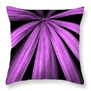 Purple Fireworks Throw Pillow