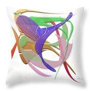 Purple Flight Throw Pillow