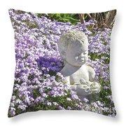 Purple Flocks  Throw Pillow