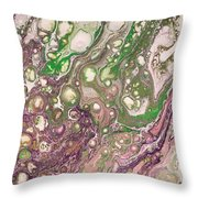 Purple Flow Throw Pillow