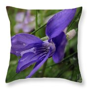 Purple Flower 2 Throw Pillow